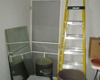 Ladders and trash cans