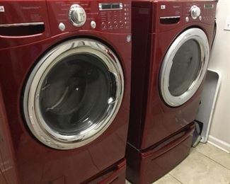 LG front load Steam Dryer, Model DLEX7177RM and Steam Washer Model WM2487HRMA