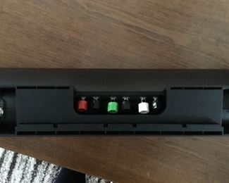 Back connections for Polk audio sound bar