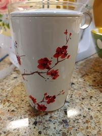 Beautiful tea cup with strainer