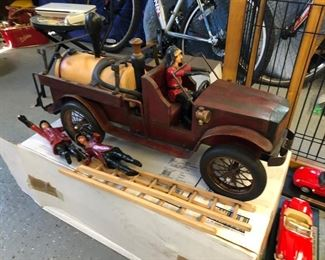 Large wood replica antique cars & trucks