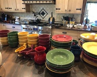 Large set of Pottery Barn dishes