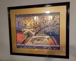 Gorgeous framed aztec art.