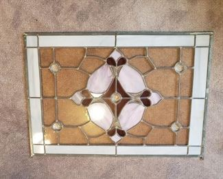 Stained glass window/hanging piece.