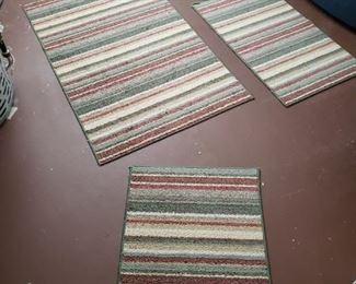 Set of 4  rugs.