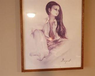 Another rare Margaret Kane framed litho.