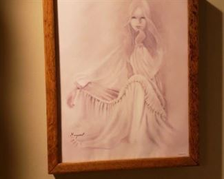 Rare Margaret Kane 'Innocence' framed litho.