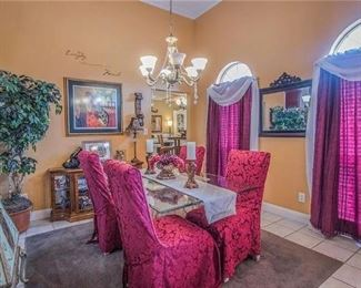 Dining room table/chairs set and all decor for sale