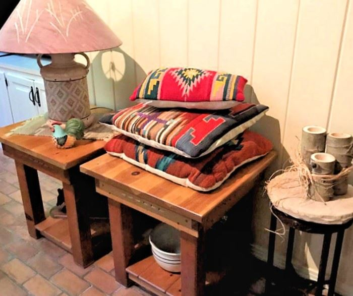 Santa Fe Southwest side tables, and SW style misc.