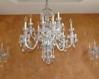 Dining Room Crystalrama Chandelier & Sconces