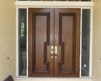 Double Front Doors - Solid Oak