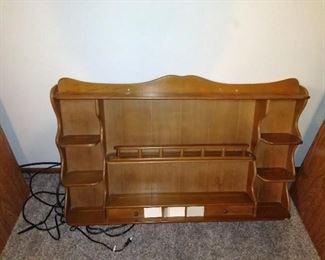 maple hutch/ display shelf