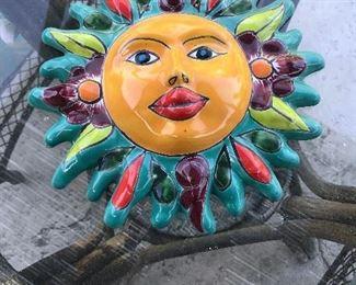 Wall Sun Face Ceramic Mexico