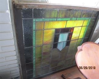 "6 - Stained Glass Windows.  42 x 40"" - 6 x $"