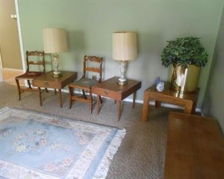 Mid-Century end tables and coffee table
