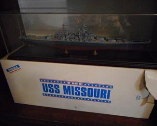 USS Missouri Battle Ship/with Box