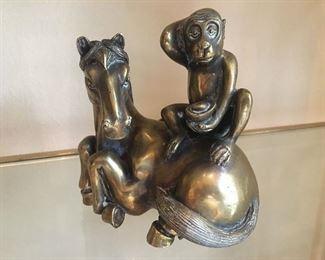 Bronze Horse and Monkey