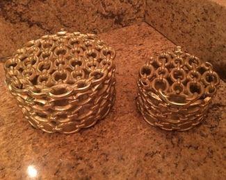 Link Polished Brass Box
