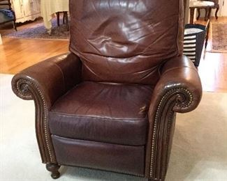 Leather recliner by Bradington & Young