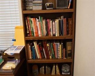 Books, CDs, Bookcase