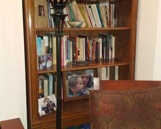 Shelf Unit Lamp & Books