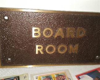 Board Room Plaque