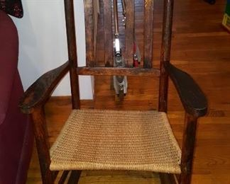 One of a Pair of Rocking Chairs
