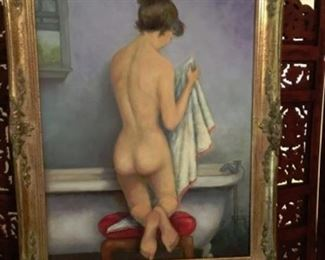 Framed Original artwork.  H Irby, Artist.