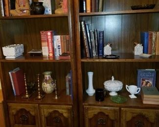 Bookcases, old books and other items