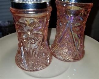 Pink Depression Glass S&P Shakers