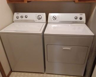 Matching Whirlpool washer and dryer