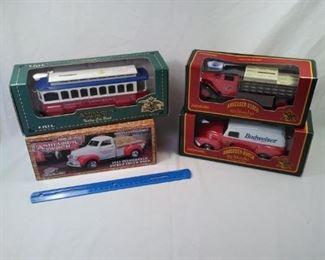 lot of 4 Diecast trucks and trolleys Anheuser-Busch Budweiser https://ctbids.com/#!/description/share/152072