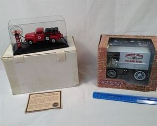 lot of 2 Diecast collectible trucks. Anheuser-Busch delivery truck coin bank and Texaco diecast truc https://ctbids.com/#!/description/share/152078