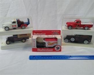 lot of 5 diecast Budweiser Anheuser-Busch cars and trucks.Hartoy https://ctbids.com/#!/description/share/152080