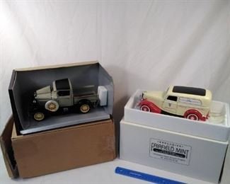 lot of 2 replica model cars. 1931 Ford Model pickup and Ford delivery truck https://ctbids.com/#!/description/share/152083