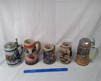 lot of 5 collector Budweiser Steins including Olympics https://ctbids.com/#!/description/share/152087