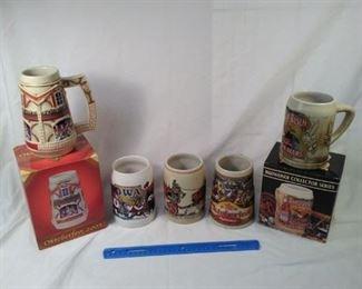 lot of 5 collector Budweiser beer steins. including Oktoberfest   https://ctbids.com/#!/description/share/152094
