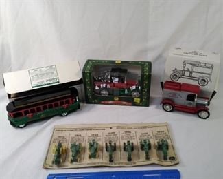 lot of 4 Diecast metal vehicles and banks . including a John Deere mini diecast tractors https://ctbids.com/#!/description/share/152113