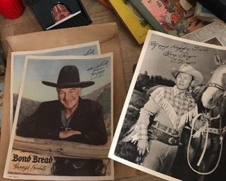 Autographed Roy Rogers & Trigger and Hopalong Cassidy photos