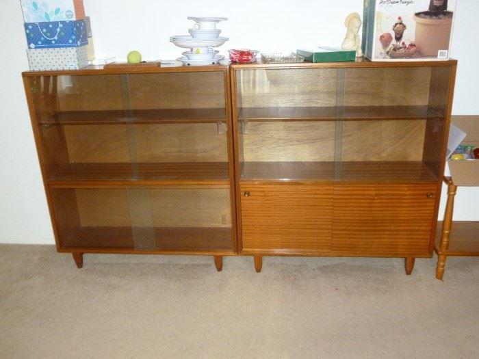 2 Mid-Century Modern Shelves ...labels Beaver & Tapley
