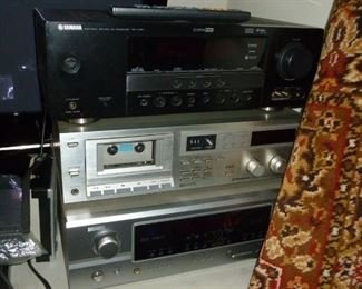 Yamaha Receiver, Pioneer Tape Deck, Denon Receiver