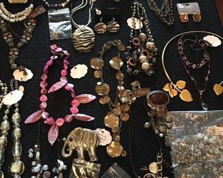 Over 400 Pieces Of Jewelry Mostly Sterling Silver or Designer    Over 200 Pairs of Earrings, Mostly             Sterling Silver & Designer)     Over 100 Necklaces     Several Sterling Rings     Over 100 Bracelets         (Mostly Sterling Silver)