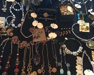 Over 400 Pieces Of Jewelry    Mostly Sterling Silver & Designer