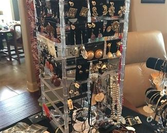 Over 200  Pairs of Sterling Silver Earrings & Designer Earrings ( Some Vintage Clip On's Also)      Karl Lagerfeld and more!!!