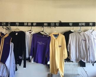 Large Collection (Over 50 pcs)  Of LSU Apparel for Ladies, Children and Men