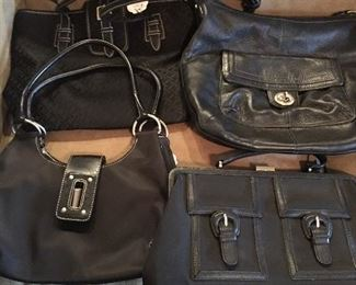 Large Collection Of Woman's Leather Purses