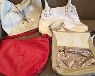 Large Collection Of  Woman's Leather Designer Purses