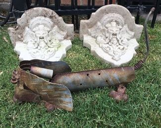 2 Lovely Concrete Wall Sconces Cute Iron Weiner Dog