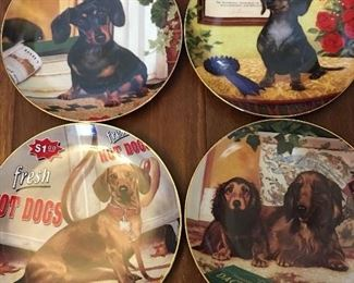 Several Franklin Mint Plates for all Of my Dachshund Lovers 🐶🐶🐶