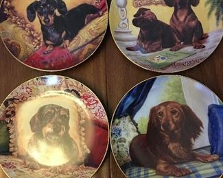 Several Franklin Mint Collectible Plates for All Of Dachshund Lovers 🐶🐶🐶